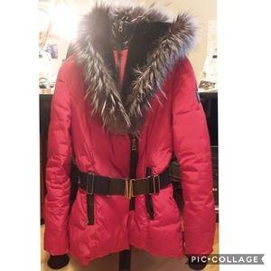 Belted and Hooded Parka Jacket